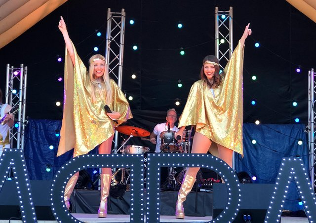See 21st Century Abba on Peterborough Cathedral Green