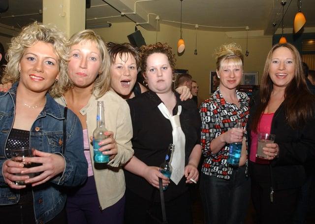 revellers at Peterborough's Westside Bar in 2002