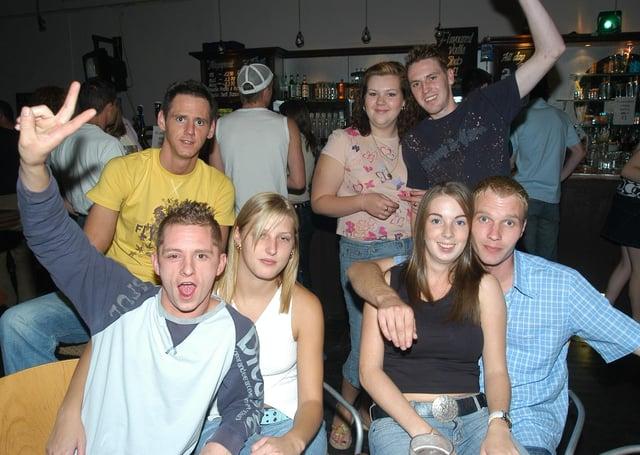 Revellers in Peterborough's Westside bar in Broadway