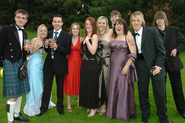 Pupils from Prince William School, Oundle, enjoy their  leavers prom at the Marriott Hotel in 2007.