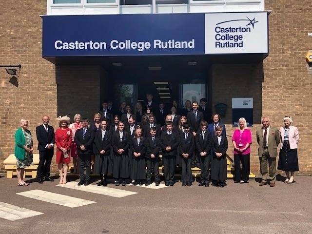 Casterton's staff and pupils have helped the school earn a chance to be crowned the best in the UK.