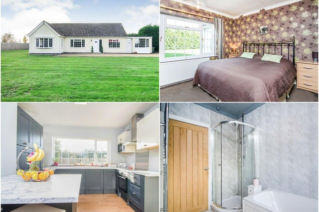 This four bed detached bungalow boasts plenty of space and a modern design
