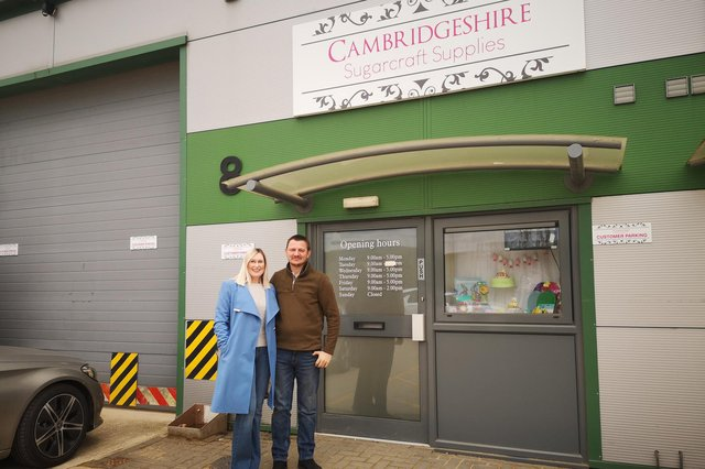 Owners, Nicola and David Mash pictured outside the newly refurbished shop.