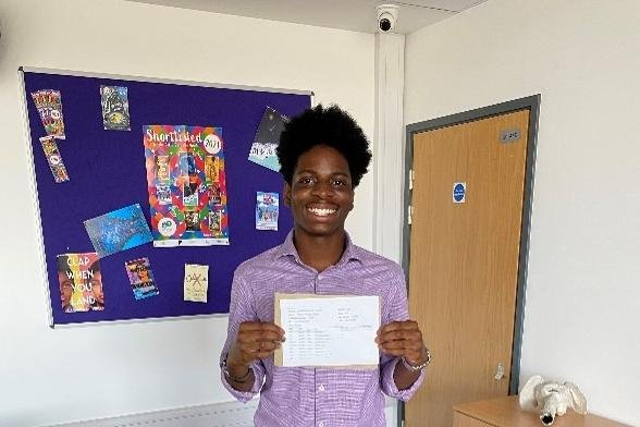 Big smiles from Nathan Isa-Onojobi with his results